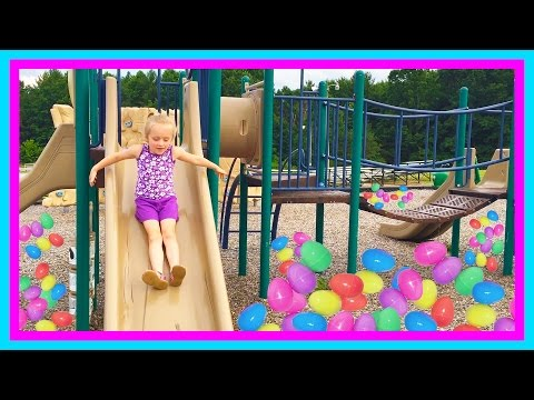Thumbnail: Playing at the park on the Kids Playground & Surprise Egg Toy Hunt W/ Play Doh Girl & Fun Factory