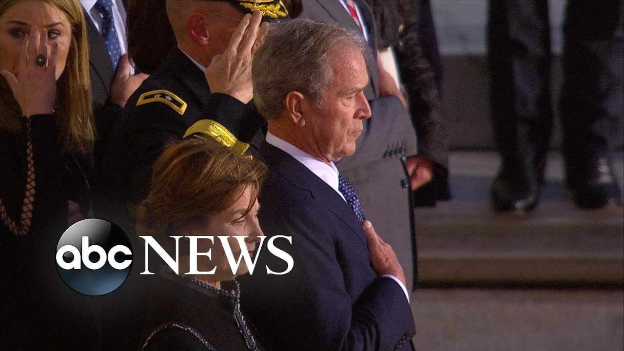 Trump, nation's leaders gather to honor George H.W. Bush