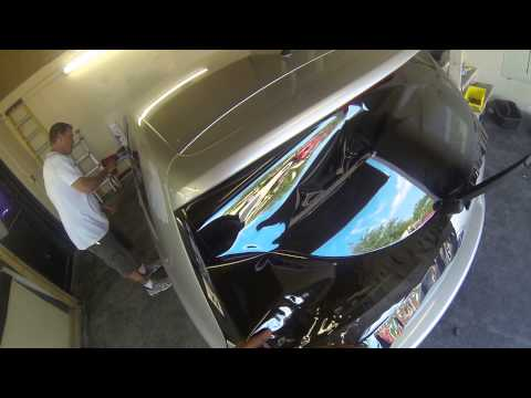 heat shrinking a rear window 2006 Volkswagen GTI using go pro 3 black #eclipsetinting