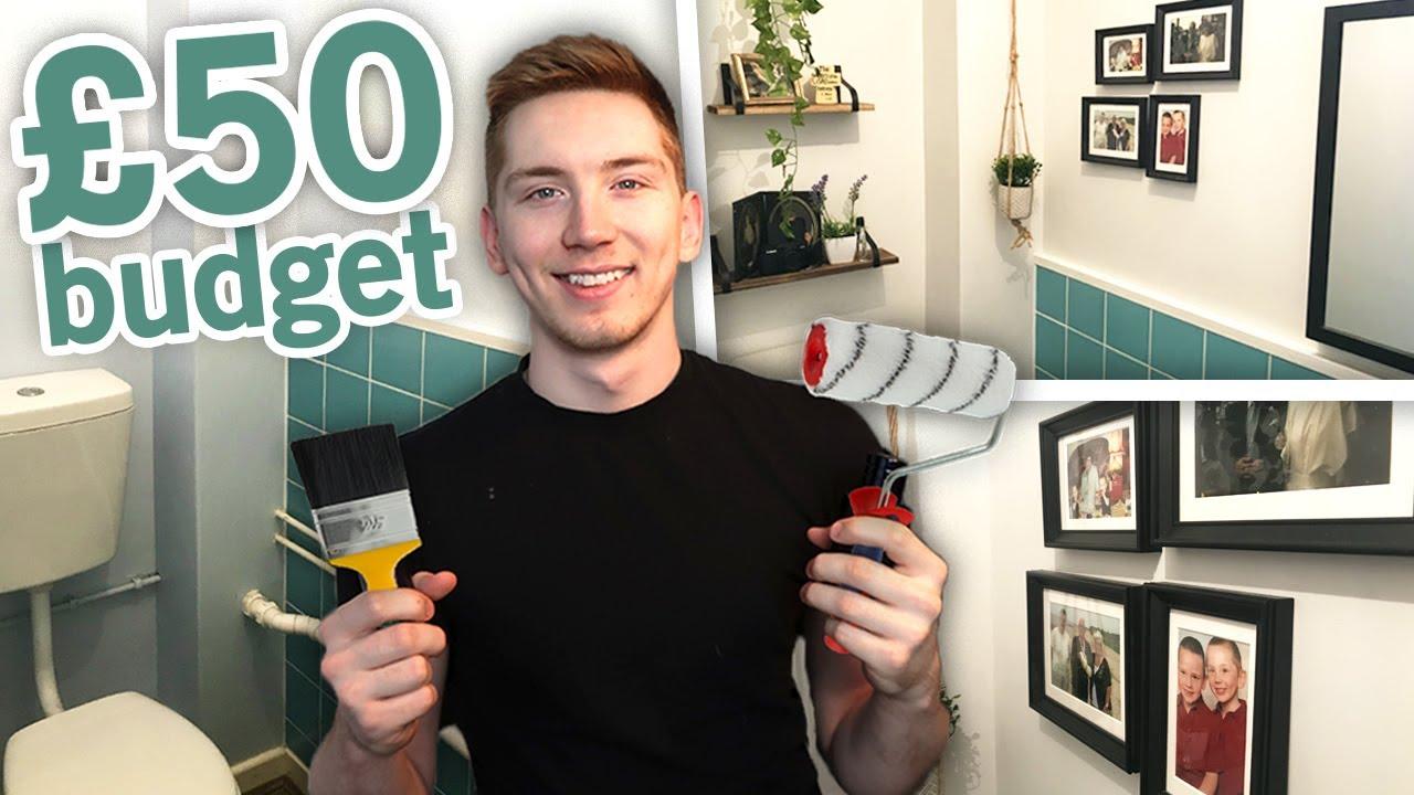 DIY Bathroom Makeover on a £50 Budget UK 2020 (Council ...