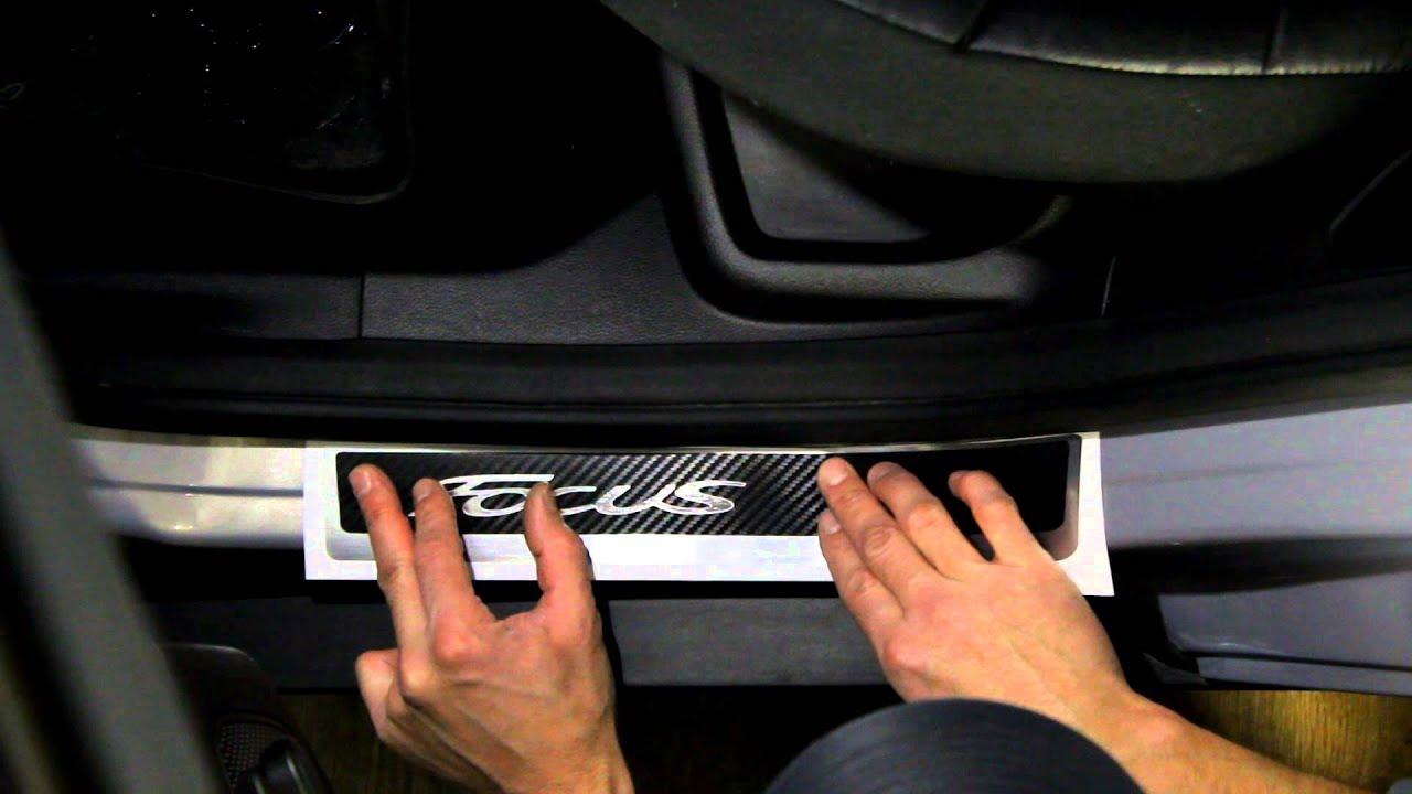 Наклейка на пороги для Ford Focus 3 + рестайлинг (Форд Фокус 3)