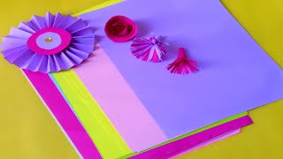 How to make paper Flowers -paper crafts-diy paper flowers