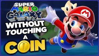 Is it possible to beat Super Mario Galaxy without touching a single coin?
