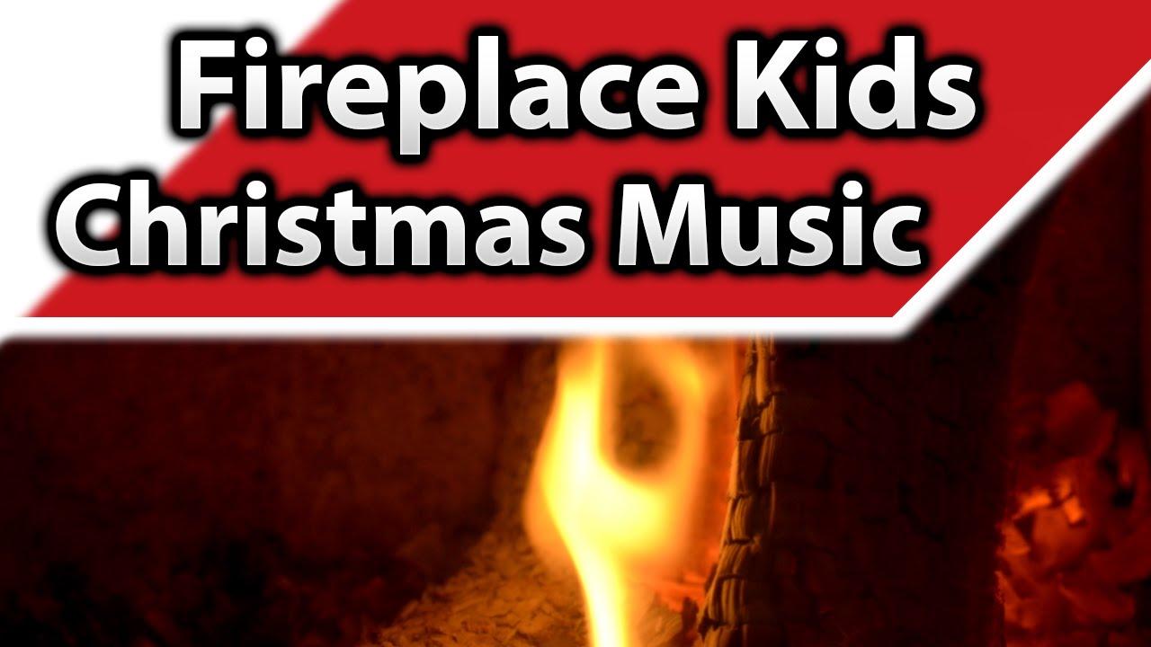 ▻ Fireplace Kids Christmas Music