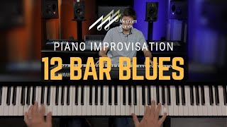 🎹12 Bar Blues Piano Tutorial - Basic Blues Progression, Left Hand & Blues Scale🎹
