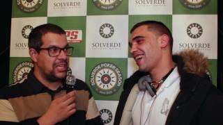 Cesário Andrade no Top 3 do Dia 1 Etapa#1 Solverde Poker Season 2017
