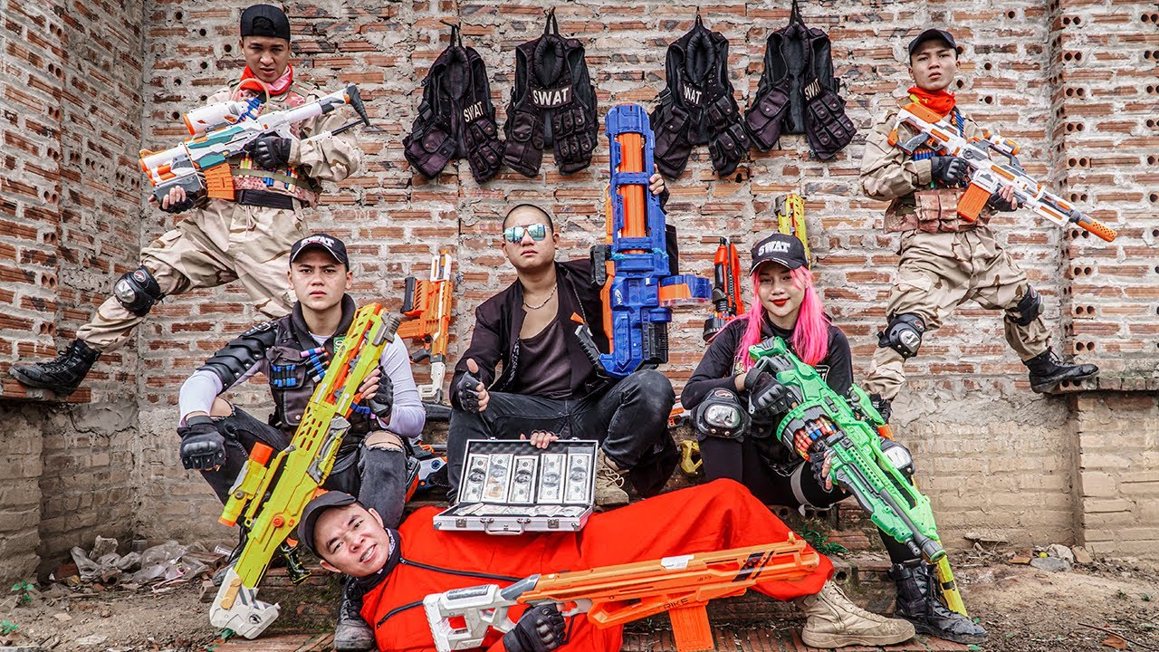 LTT Game Nerf War : Captain Warriors SEAL X Nerf Guns Fight Rocket Crazy Lover's Captive