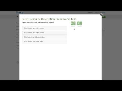 Elance Resource Description Framework RDF Test Answers 2015