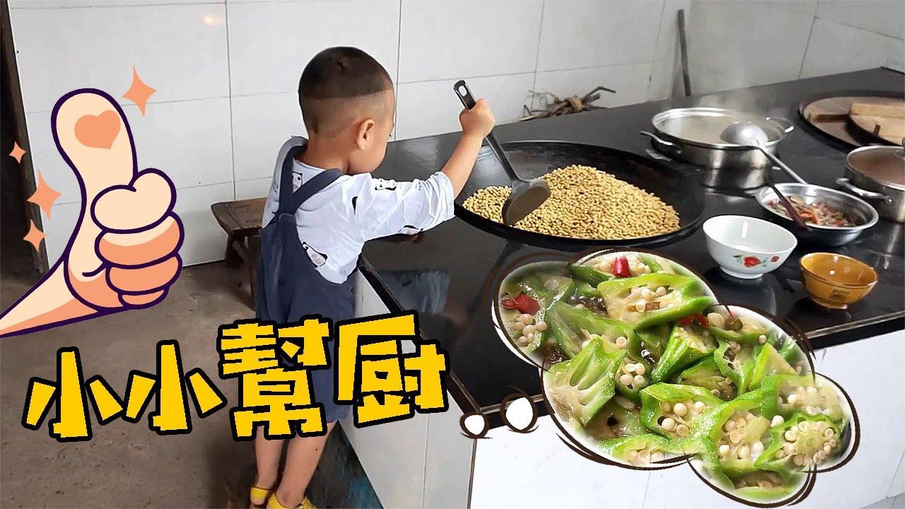 最近東奔西跑很少在家吃飯,道哥炒幾個農家菜,家裡的飯菜就是香【90後寶媽雯雪】
