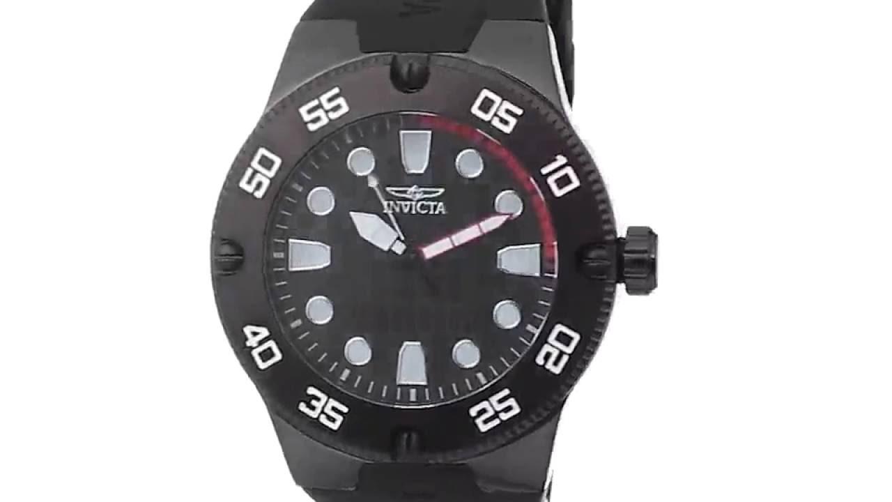 419d95cc4da Reloj Invicta hombres 18026SYB Pro Diver Manilla Negra - YouTube