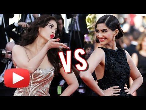 Aishwarya Rai Bachchan VS Sonam Kapoor At Cannes 2014 - FASHION WAR