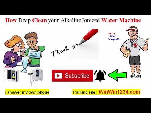 Enagic How to deep clean any Ionized Machine Correctly