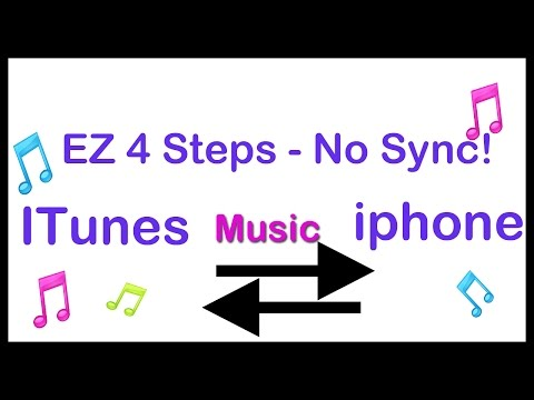 transfer music  itunes to iphone without sync!