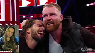 WWE Raw 11/19/18 Dean Ambrose and Seth Rollins confrontation