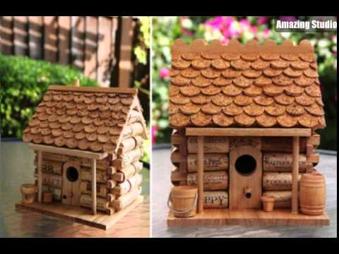 Wine cork diy birdhouse youtube for How to build a birdhouse out of wine corks