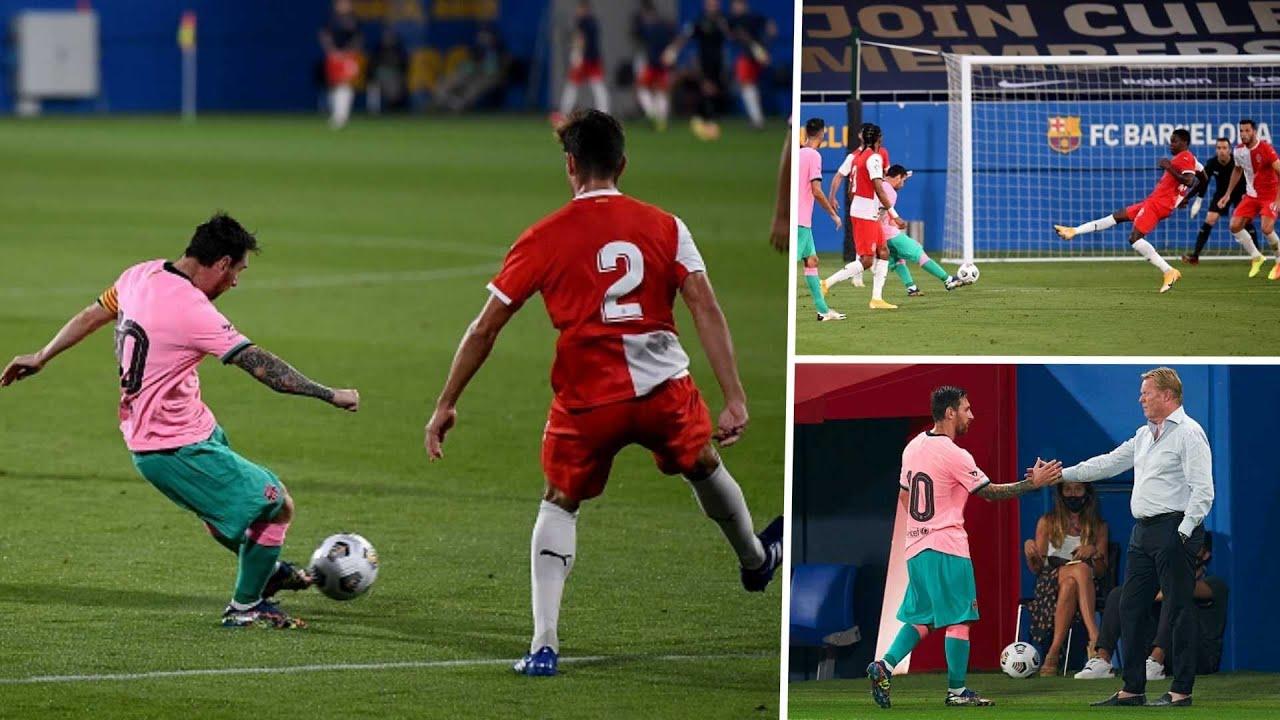 El mejor de todos: Messi la rompió en el amistoso de Barcelona y marcó dos golazos
