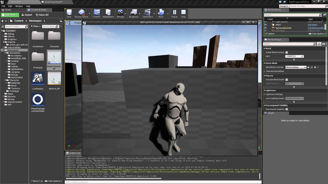 Ue4 Import Third Person Character