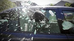 Can you smash a window with a headrest?