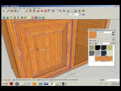 SketchUp 7 - Speed Modeling - Kitchen Cabinets
