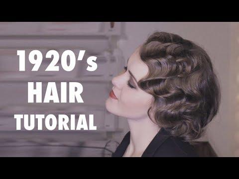 Wasserwelle Anleitung Tutorial 20er Jahre Frisur Youtube
