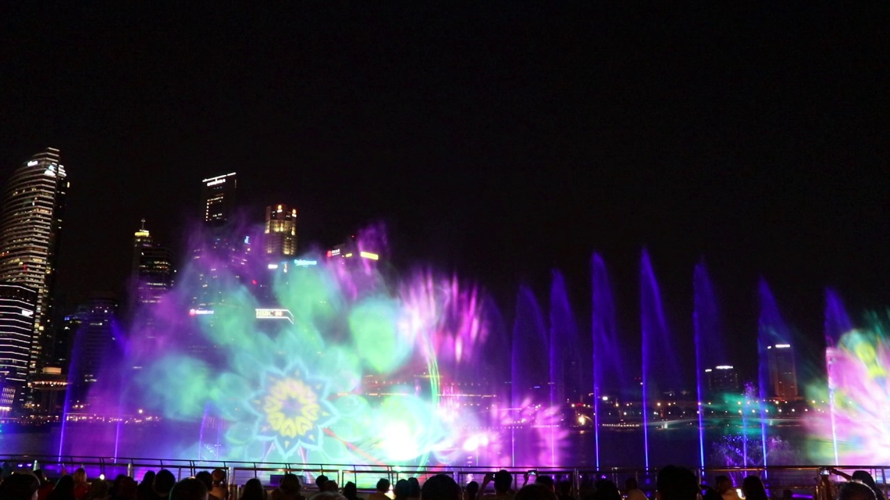 marina bay light and water show schedule marina bay sands singapore