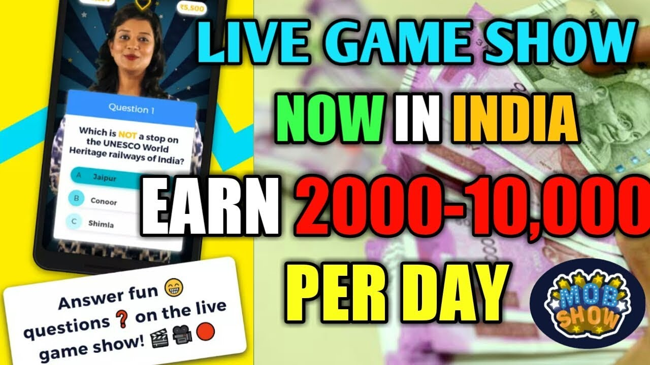 HOW TO EARN MONEY ONLINE   PAYTM CASH   LIVE GAME SHOW EARN UPTO 10,000  GK  QUIZ(hindi)