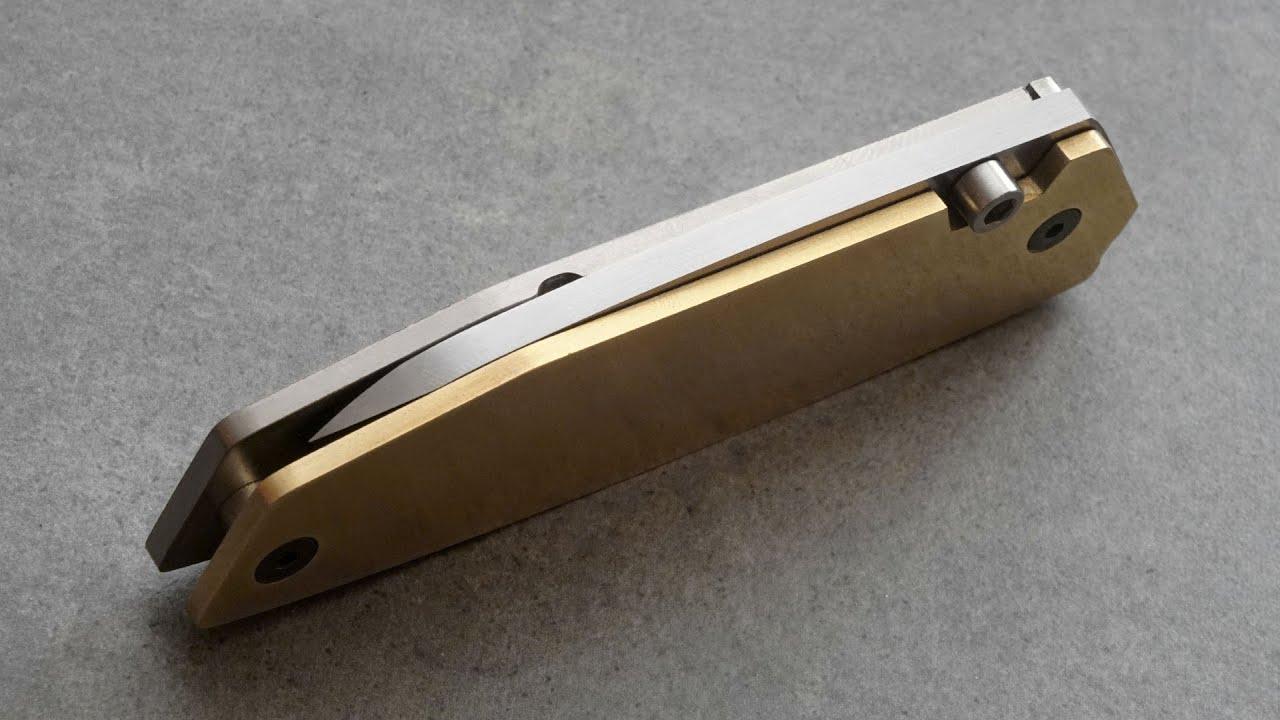 Knife Making - Brass Titanium Frame Lock Folder
