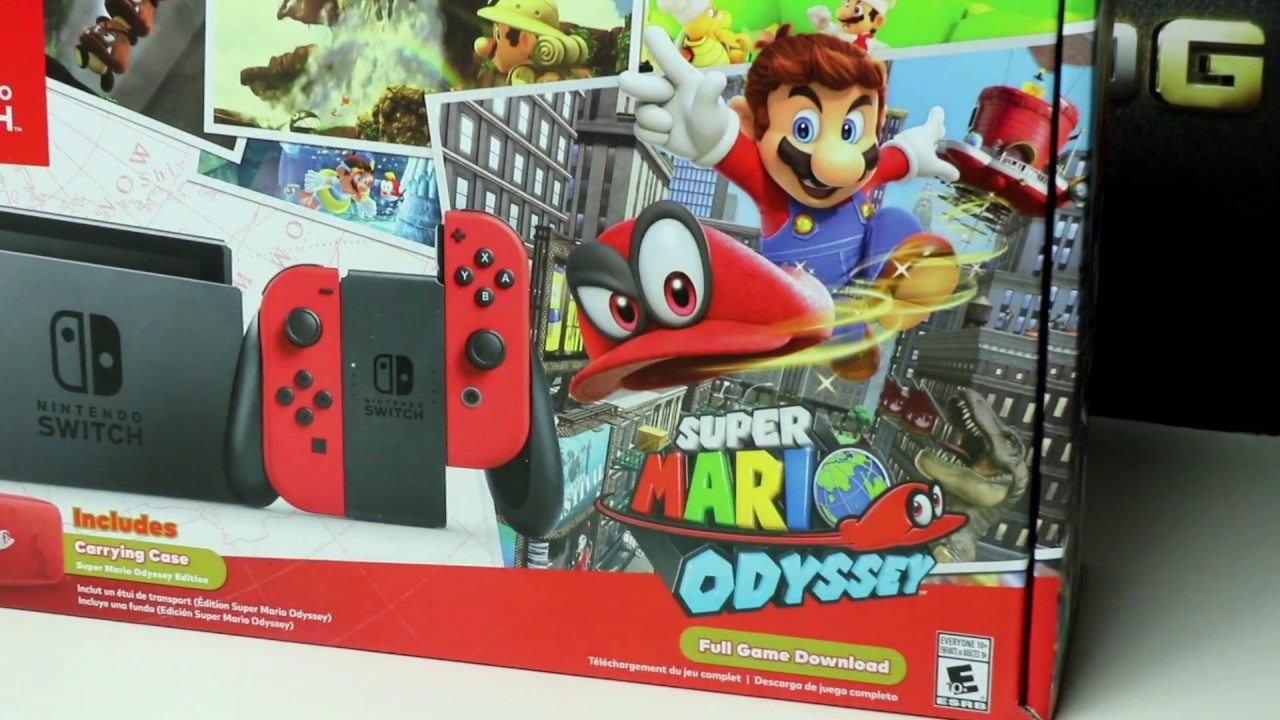 Unboxing Nintendo Switch Super Mario Odyssey Bundle Youtube