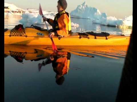 Sea Kayaking Upernavik city Northwest Greenland