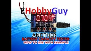 ANOTHER BATTERY CAPACITY TESTER HOW TO USE + TEST !!