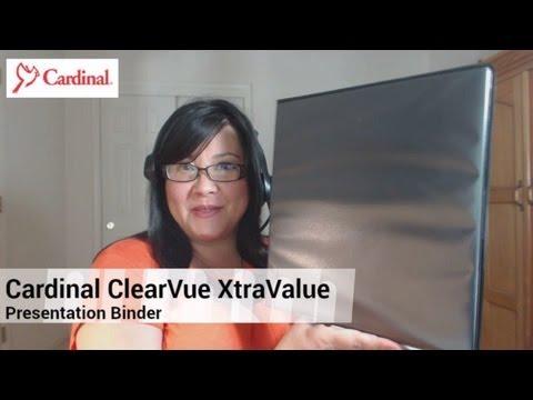 Cardinal Vinyl ClearVue XtraValue Slant D-Ring Presentation Binder