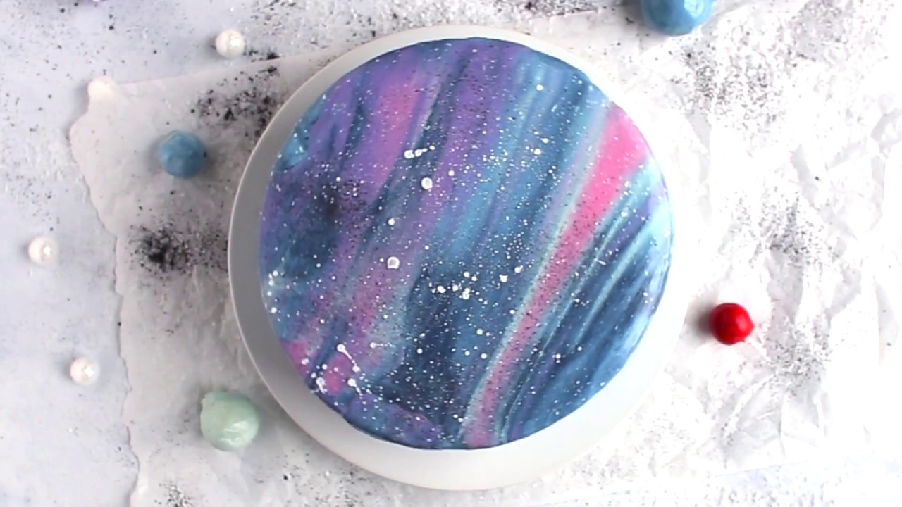 Galaxy Mirror Glaze Cake Recipe