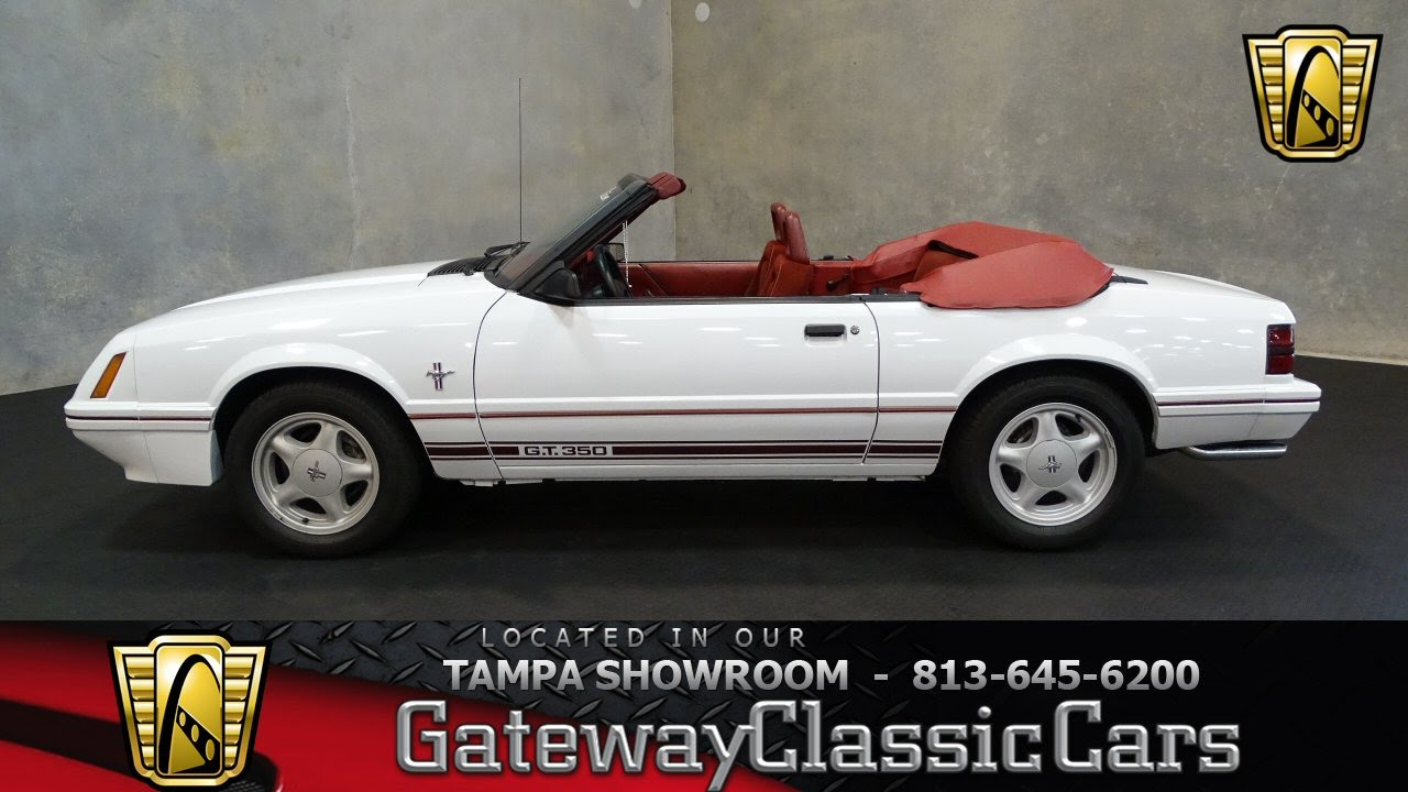Picture of 1984 ford mustang gt350 exterior - 1984 Ford Mustang Gt350 20th Anniversary Edition 5 0l V8 Fi Ohv 5 Speed Manual Stock 618 Tpa