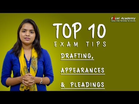 CS Professional, Drafting Appearances and Pleadings- Top 10 tips