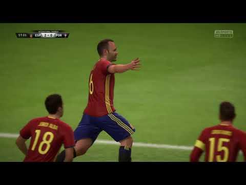 Group B: Spain 4-0 Portugal