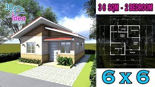 #14 Small House Design: 6x6 Simple Tiny House With 2 Bedroom