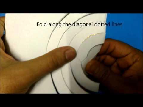 Kirigami 3 spinning cirkels