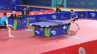 Simon GAUZY FRA  face à Marcos FREITAS POR - tennis de table 2015