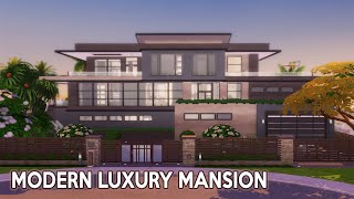 Modern Luxury Mansion (for Celebrity) | The Sims 4 | No CC | Stop Motion Build