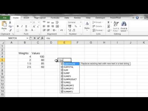 How To calculate Weighted Averages in Excel