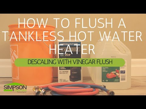 HOW TO FLUSH A TANKLESS WATER HEATER (RINNAI)