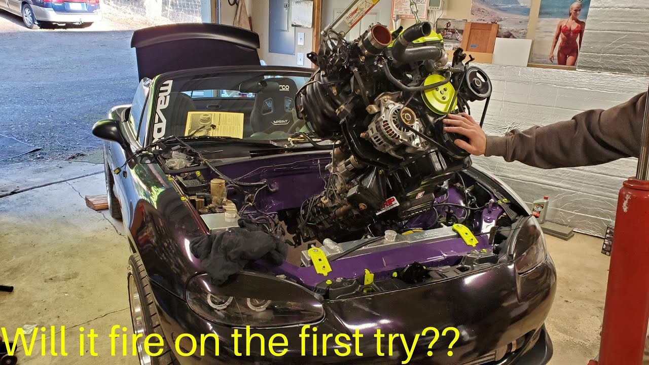 Dropping In The Forged 1.9L Miata Engine