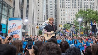 "Ed Sheeran perform ""Shape of You"" on Today Show"