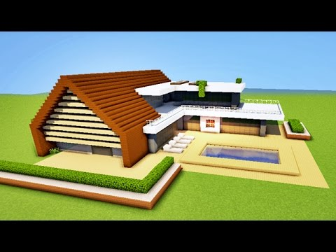 Minecraft comment faire une belle maison moderne tuto for Belle maison minecraft