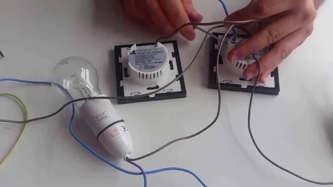 I LumoS 2 Way Electrical Touch Light Switch Wiring Tutorial - YouTube