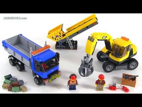 Lego City 2015 Excavator Truck Review Set 60075 Youtube