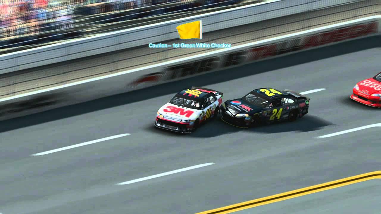 NASCAR THE GAME Inside Line Talladega Huge Crash - YouTube