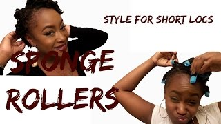 Sponge Rollers on Short Locs: JenuineLover
