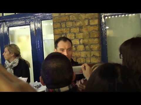 Jude Law - Noël Coward Theatre - Stage Door - 02/01/2014