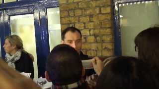 Jude Law - Noël Coward Theatre - Stage Door - 02/01/2014